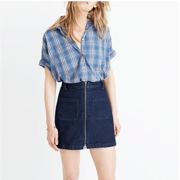 40b0776a9a Skirts | Madewell Denim Zip Mini Skirt | Poshmark