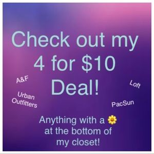 🌼4 for $10