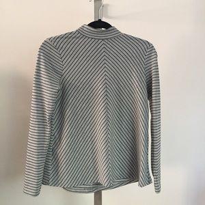 Zara High Collar Top