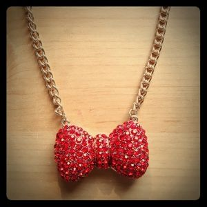 Jewelry - Red Bow Necklace