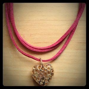 Jewelry - Faux Leather Heart Choker