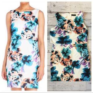 Ivanka Trump Floral‑print Scuba Sheath Dress 🍍