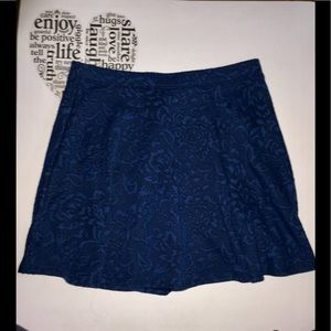 Forever 21 Blue Floral Skater Skirt. Size Large