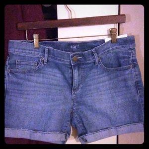 Brand New Denim cuffed shorts by The Loft