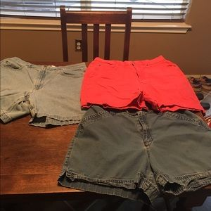 Liz claiborne shorts size 12 all 3 pairs.