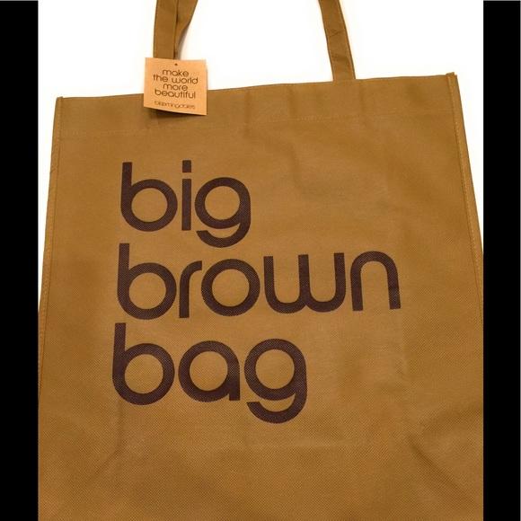 3efb762b51 Bloomingdale's Bags | Nwt Bloomingdales Big Brown Reusable Bag Tote ...