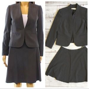 Tahari Charcoal Gray Business Suit A-Line Skirt 🍍