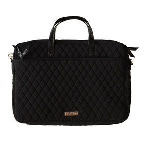 Vera Bradley black attaché laptop bag -NWT