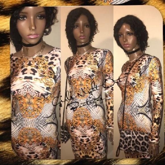 👸🏾🤑DISCOUNT DIVA💕 ✨Cheetah Print Bodycon Dress