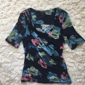 Anthropologie Deletta Floral Ruched Top