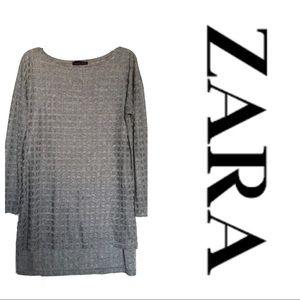 Zara silver tunic - size small.