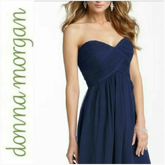Donna Morgan Dresses & Skirts - New DONNA MORGAN Silk Chiffon Strapless Dress