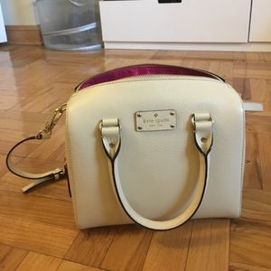 KATE SPADE ALESSA WELLESLEY CROSS BODY WHITE