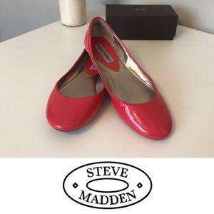 Steve Madden Pink Patent P-Heaven Flats