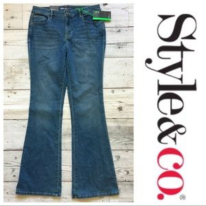 Style & Co. Low Rise Blue Denim Flare Jeans 🍍