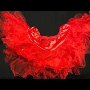 Other - Red fluffy tutu