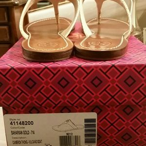 2b58a4dc5fbe36 Tory Burch Shoes - Tory Burch Sandals in Gold