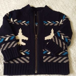 Baby gap cable knit zip up sweater