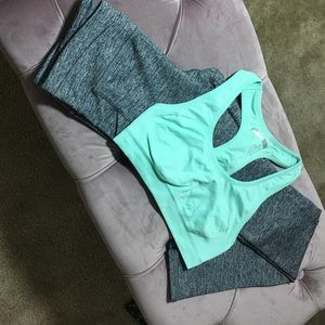Grey work out long leggings Small