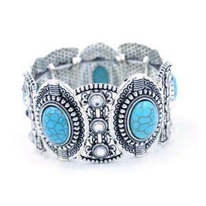Jewelry - Tibetan Silver Turquoise Boho Bracelet