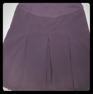 Motherhood Maternity black pleated skirt