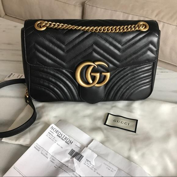 9f181d4e9404 Gucci Bags   Marmont Bag Black And Gold   Poshmark