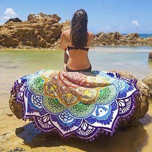 Other - New Mandala Round 🌺 Lotus Flower Blanket/Wrap