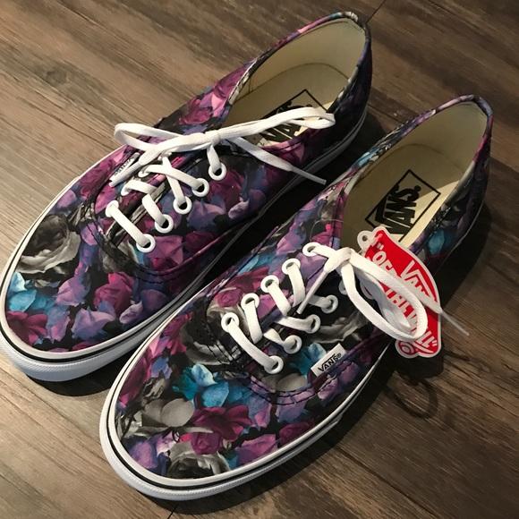 b3bbb28f09ba New Vans Purple Floral pattern lace up W 10