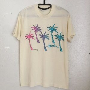 VTG 80's Hawaii tee lovely neon graphics