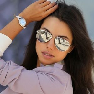 Ray Ban aviator silver mirrored sunglasses. 58mm.