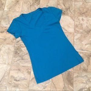 FOREVER 21 blue v-neck tee
