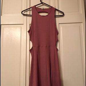 Mauve cut out dress