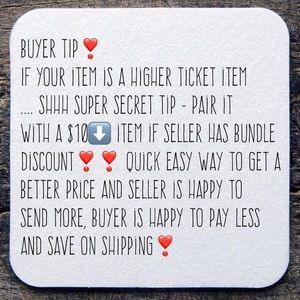 Other - SHHHH...buyer tip!