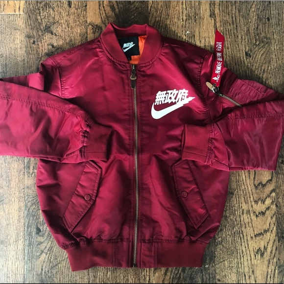 sleek separation shoes exclusive shoes Nike Jackets & Coats | Air Tokyo Bomber Jacket Red Medium Anarchy ...