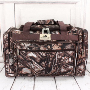 Other - Camo With Brown Trim Duffle Bag
