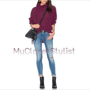 Free People ALPACA NWT purple knit Tunic Top! XS/S