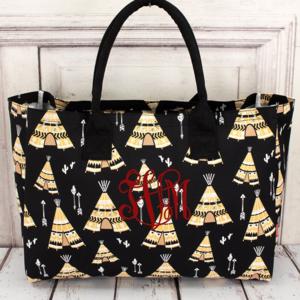 Handbags - Teepee Wide Tote Bag (No Monogram)
