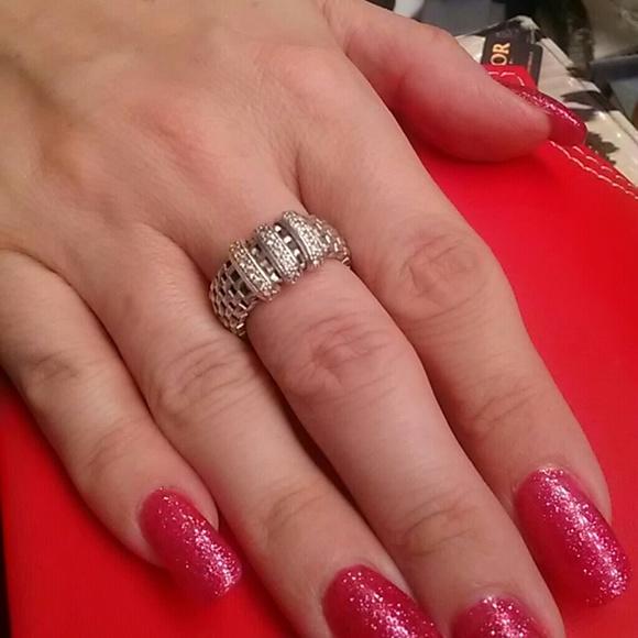 Sterling Silver Italian Mesh Ring