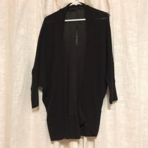 Zara cardigan sweater black knit small cozy loose