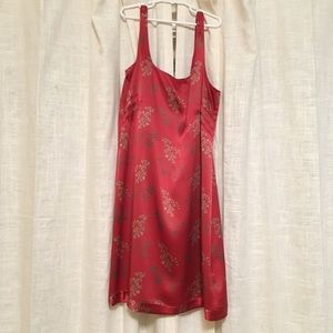 Banana republic red dress size 4 silk holiday 🍒