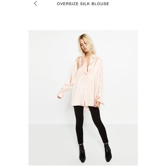 13b45f5786ed6 Zara 100% Silk Shirt Blouse