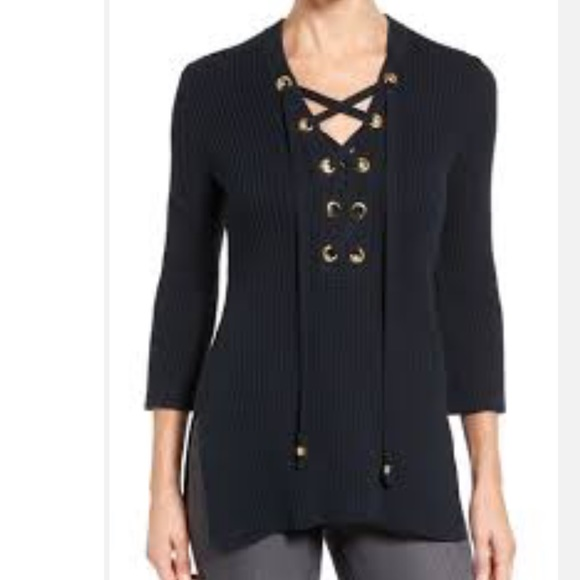 d71de8e3126 Michael Kors lace up sweater
