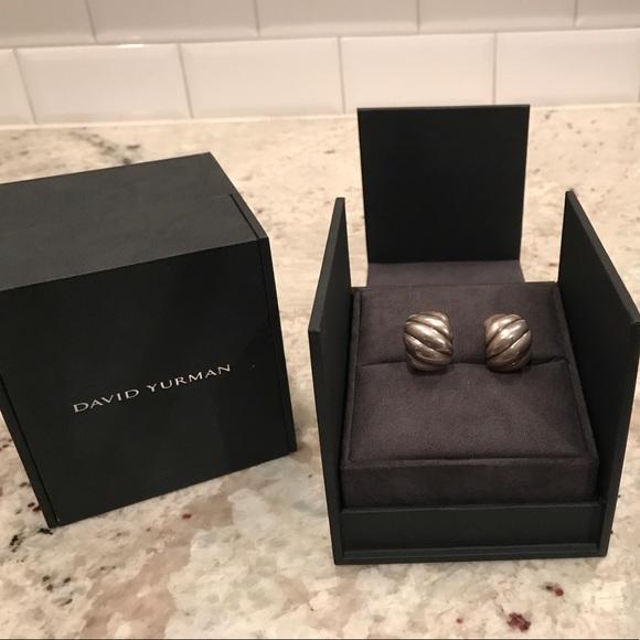David Yurman Jewelry - David Yurman Sculpted Cable Hoop Earrings
