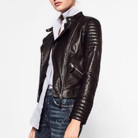 Zara Black Jacket Jacket Leather Leather Zara Trf Zara Trf Black PuZXki
