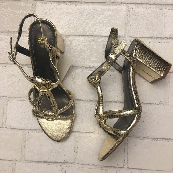 0df6bd1d88d Gold Embossed Knot Sandals
