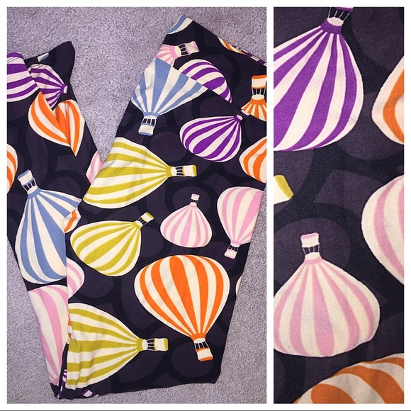 cd1eefeea176b8 LuLaRoe Pants | Tc Colorful Hot Air Balloon Leggings | Poshmark