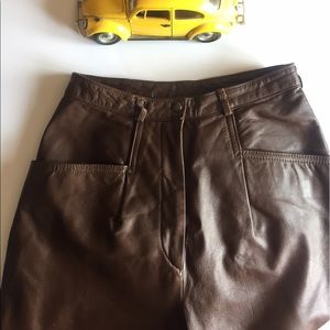 Brown Leather Nordstrom Pants size 3