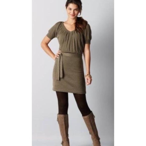 893cd19b990 NWT Ann Taylor LOFT Blouson Sweater Dress merino M