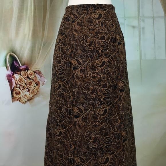 Briggs Dresses & Skirts - Briggs Brown Paisley Maxi Skirt
