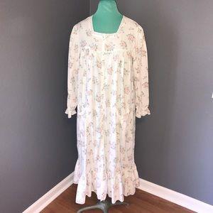 White floral vintage pajamas
